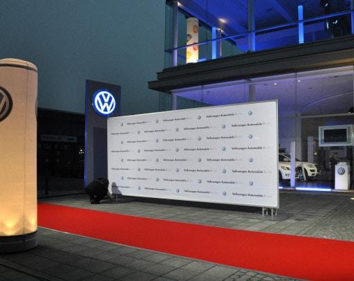 PVC-Banner für VW Außenwerbung